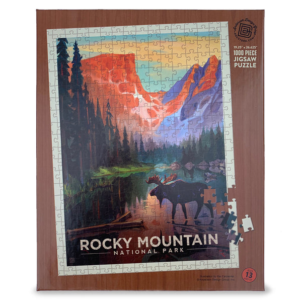 1000-Pc. Puzzle: Rocky Mountain National Park (Art by Kai Carpenter)