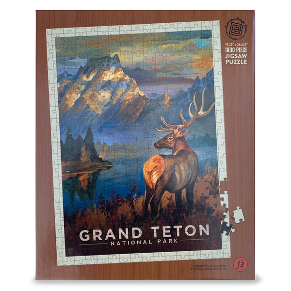 1000-Pc. Puzzle: Grand Teton National Park (Art by Kai Carpenter)