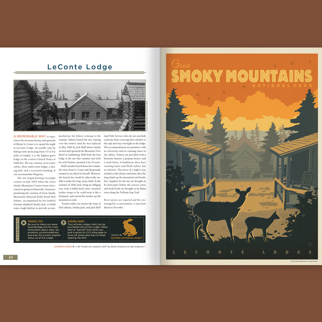 Illustrated Guide to Great Smoky Mountains National Park: Hard Cover Coffee Table Book