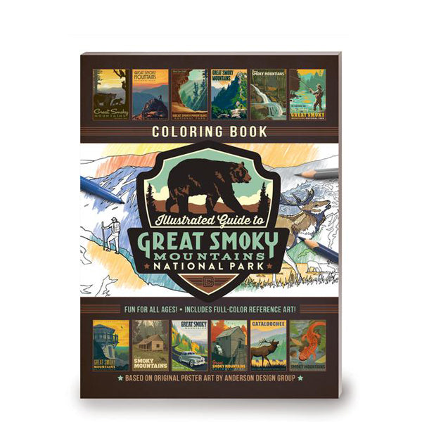 Coloring Book: Illustrated Guide to Great Smoky Mountains National Park