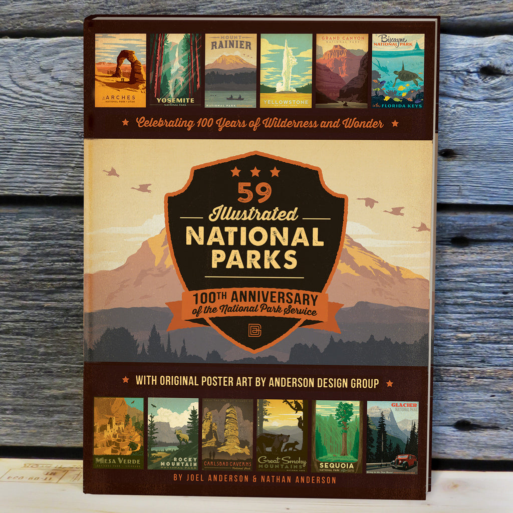 59 National Parks 100th Anniversary Hard Cover Coffee Table Book Bar