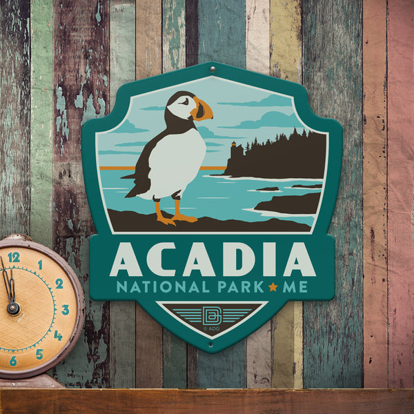 Metal Emblem Sign: NP Acadia National Park