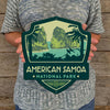 Metal Emblem Sign: NP American Samoa National Park