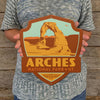 Metal Emblem Sign: NP Arches National Park
