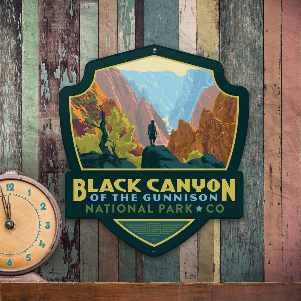 Metal Emblem Sign: NP Black Canyon of the Gunnison National Park