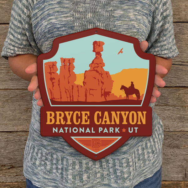 Metal Emblem Sign: NP Bryce Canyon National Park