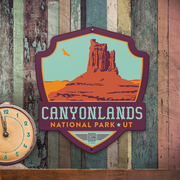 Metal Emblem Sign: NP Canyonlands National Park