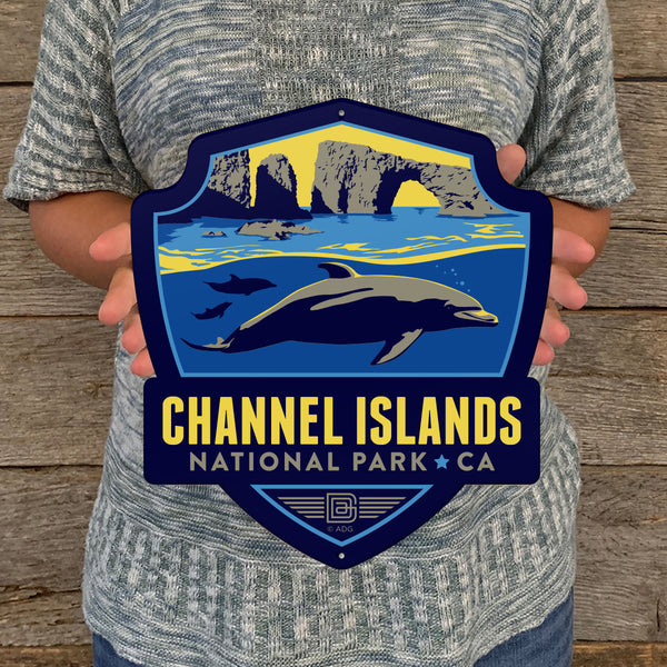Metal Emblem Sign: NP Channel Islands National Park