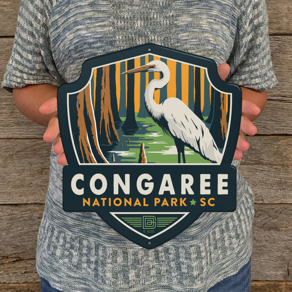 Metal Emblem Sign: NP Congaree National Park