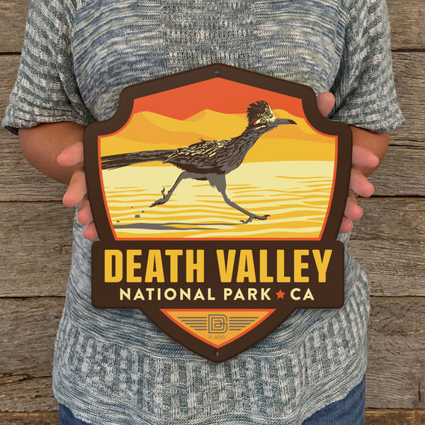 Metal Emblem Sign: NP Death Valley National Park
