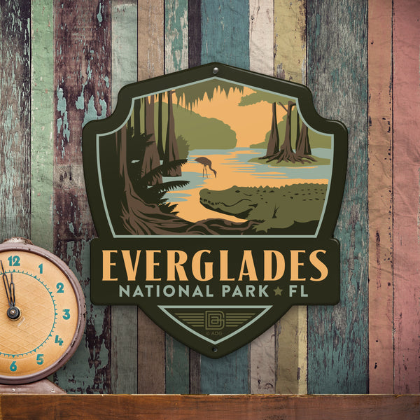 Metal Emblem Sign: NP Everglades National Park
