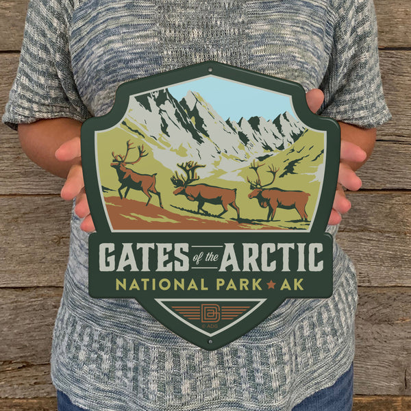 Metal Emblem Sign: NP Gates of the Arctic National Park