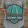 Metal Emblem Sign: NP Gateway Arch National Park