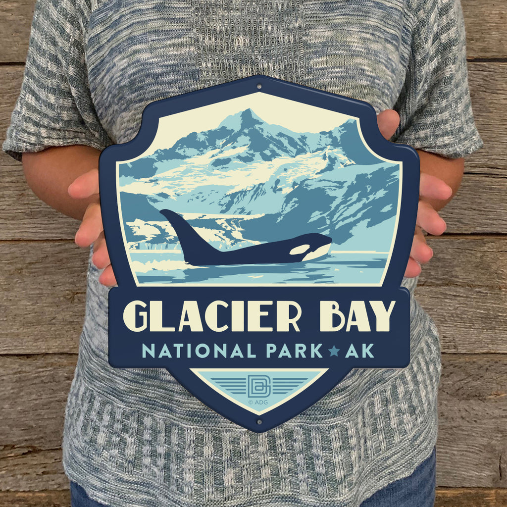Metal Emblem Sign: NP Glacier Bay National Park