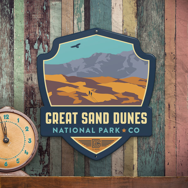 Metal Emblem Sign: NP Great Sand Dunes National Park