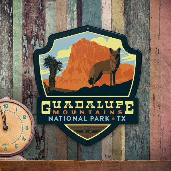 Metal Emblem Sign: NP Guadalupe Mountains National Park
