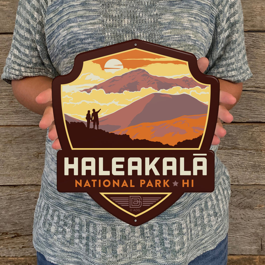 Metal Emblem Sign: NP Haleakala National Park
