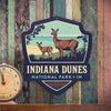 Metal Emblem Sign: NP Indiana Dunes National Park