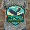 Metal Emblem Sign: NP Isle Royale National Park
