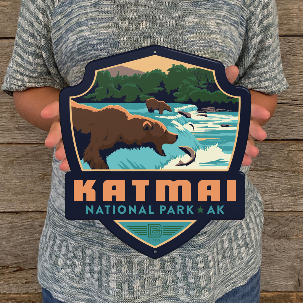 Metal Emblem Sign: NP Katmai National Park