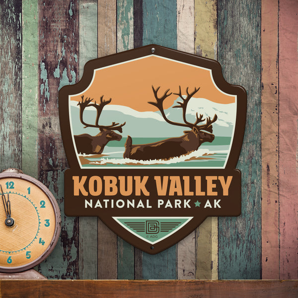 Metal Emblem Sign: NP Kobuk Valley National Park