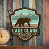 Metal Emblem Sign: NP Lake Clark National Park