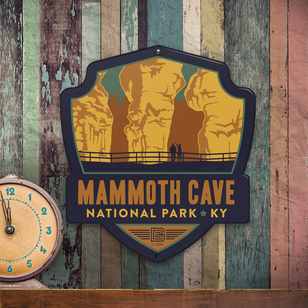 Metal Emblem Sign: NP Mammoth Cave National Park