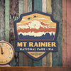 Metal Emblem Sign: NP Mount Rainier National Park