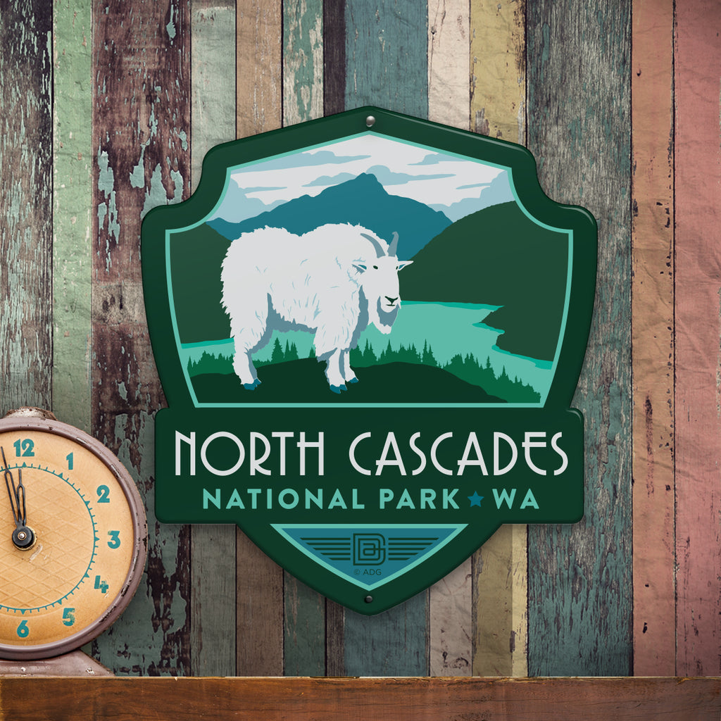 Metal Emblem Sign: NP North Cascades National Park