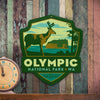 Metal Emblem Sign: NP Olympic National Park