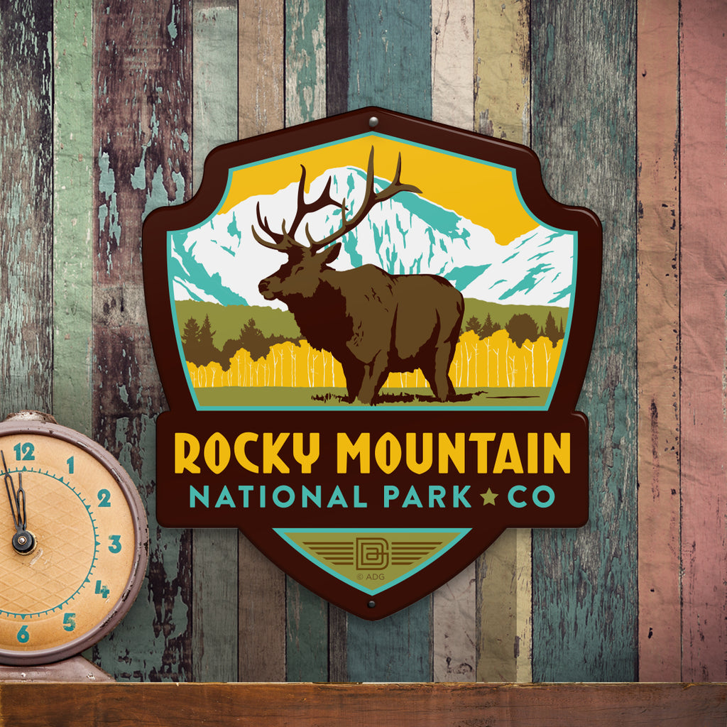 Metal Emblem Sign: NP Rocky Mountain National Park