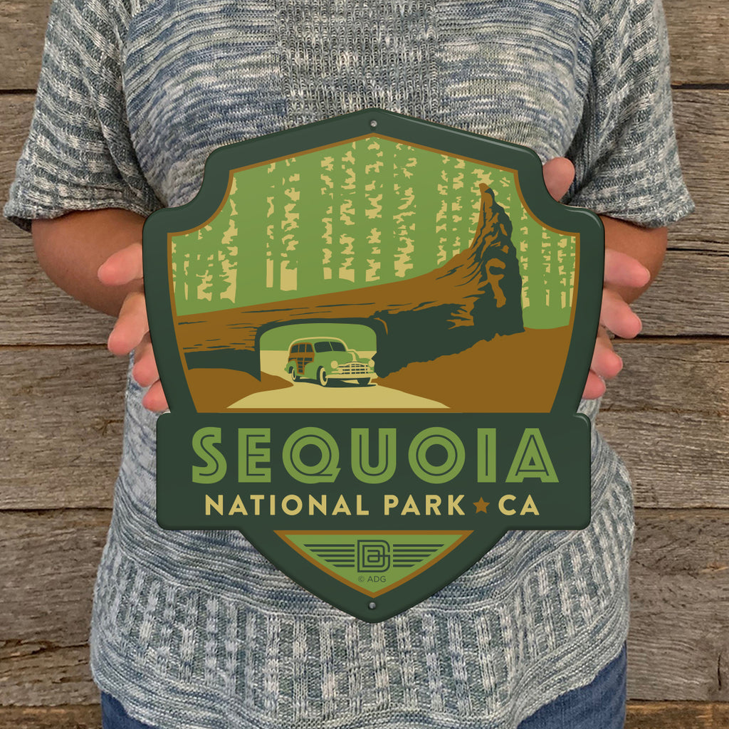 Metal Emblem Sign: NP Sequoia National Park