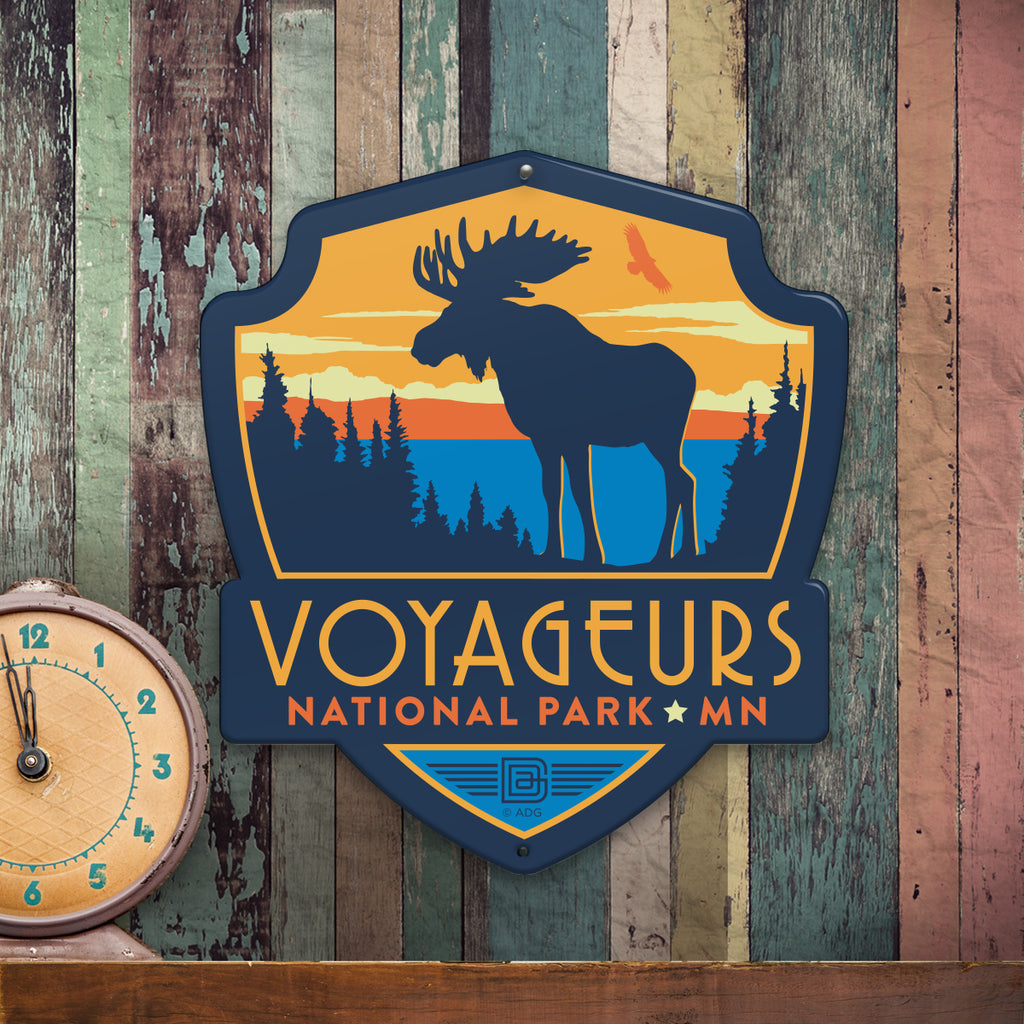 Metal Emblem Sign: NP Voyageurs National Park