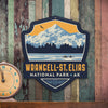 Metal Emblem Sign: NP Wrangell-St. Elias National Park
