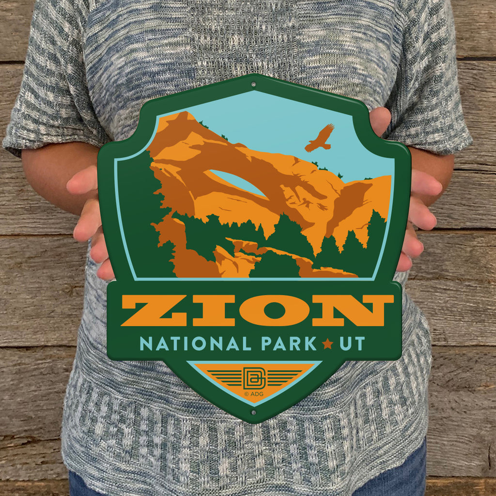 Metal Emblem Sign: NP Zion National Park