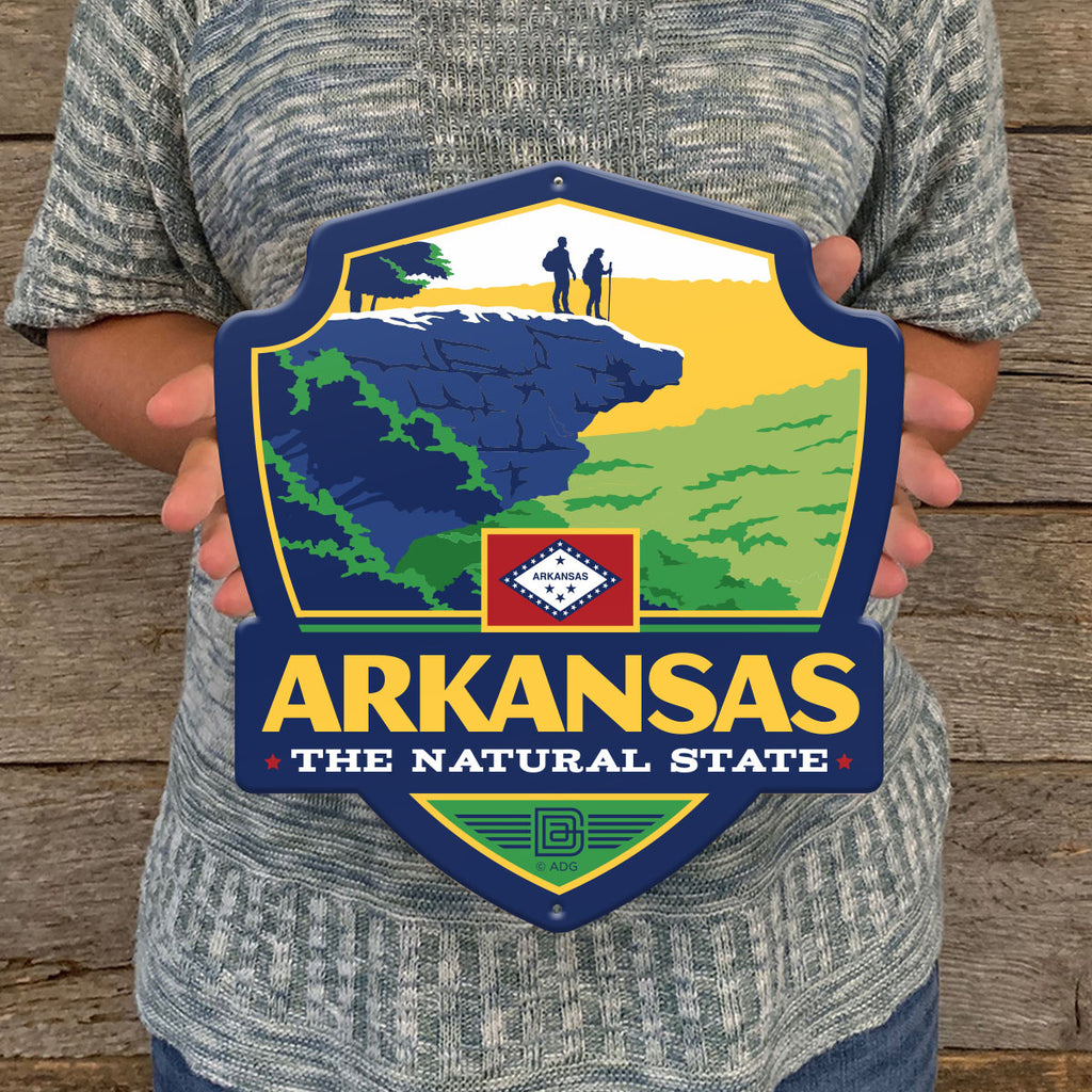 Metal Emblem Sign: SP Arkansas