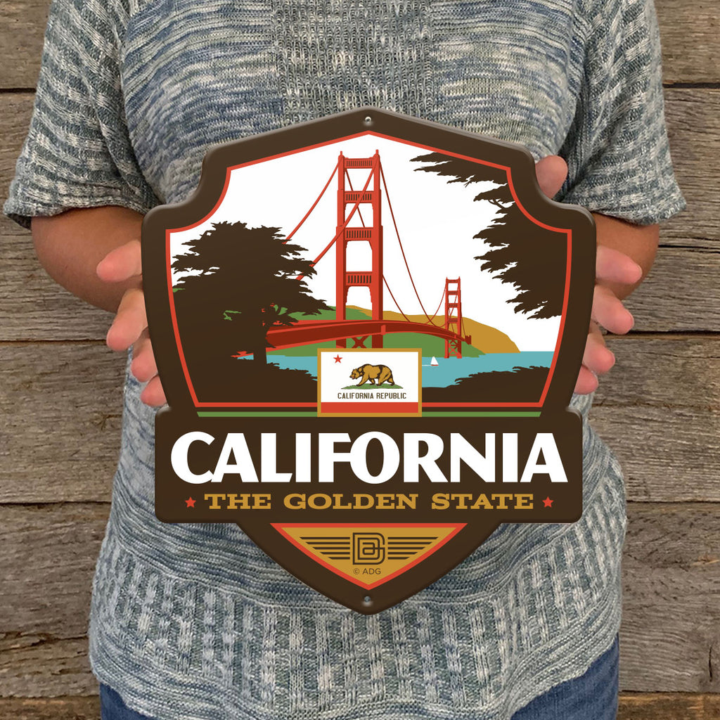 Metal Emblem Sign: SP California