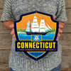 Metal Emblem Sign: SP Connecticut