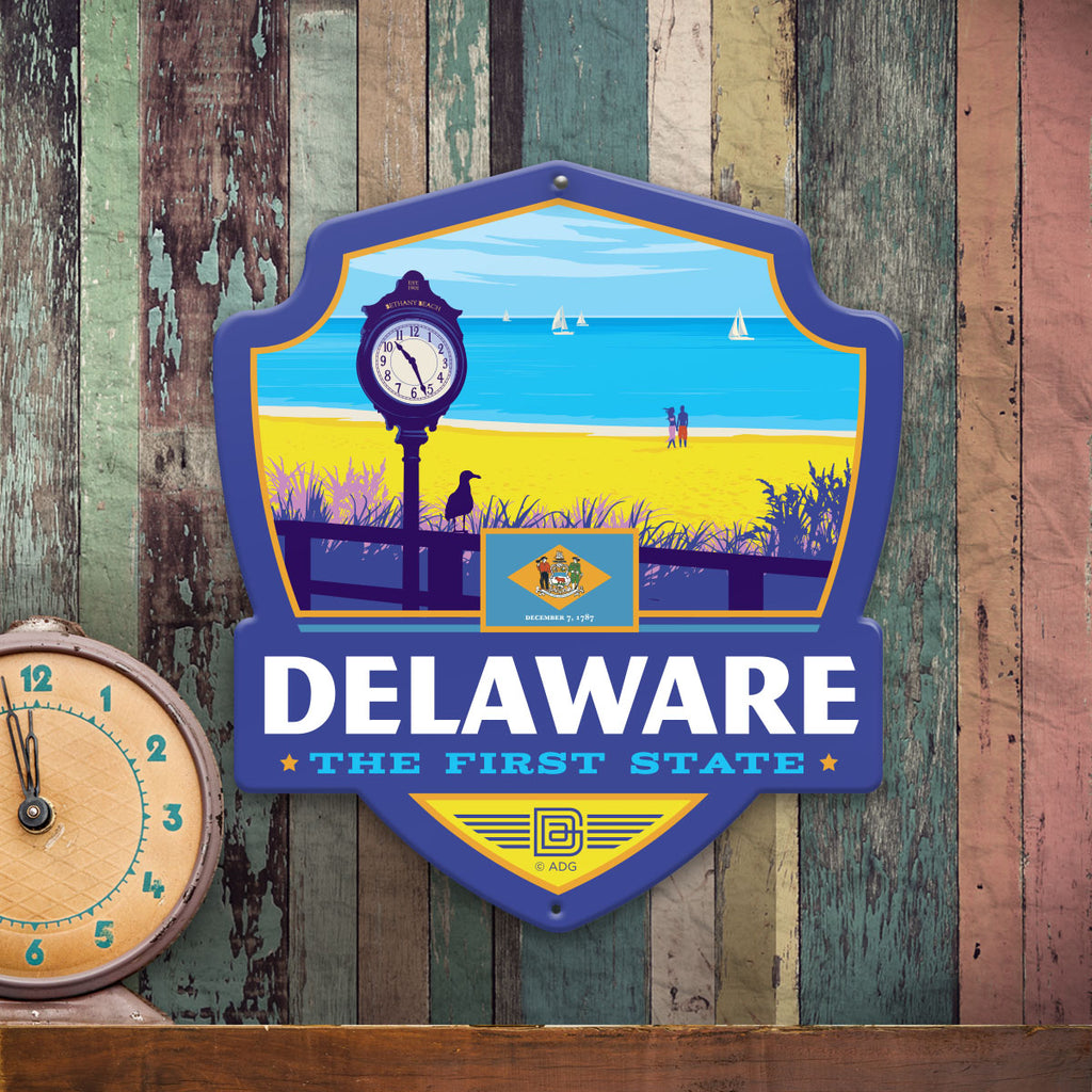 Metal Emblem Sign: SP Delaware