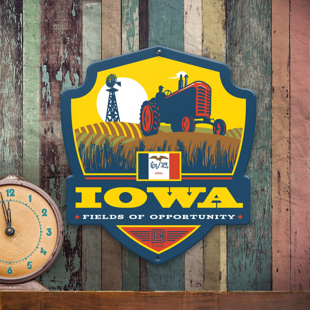 Metal Emblem Sign: SP Iowa