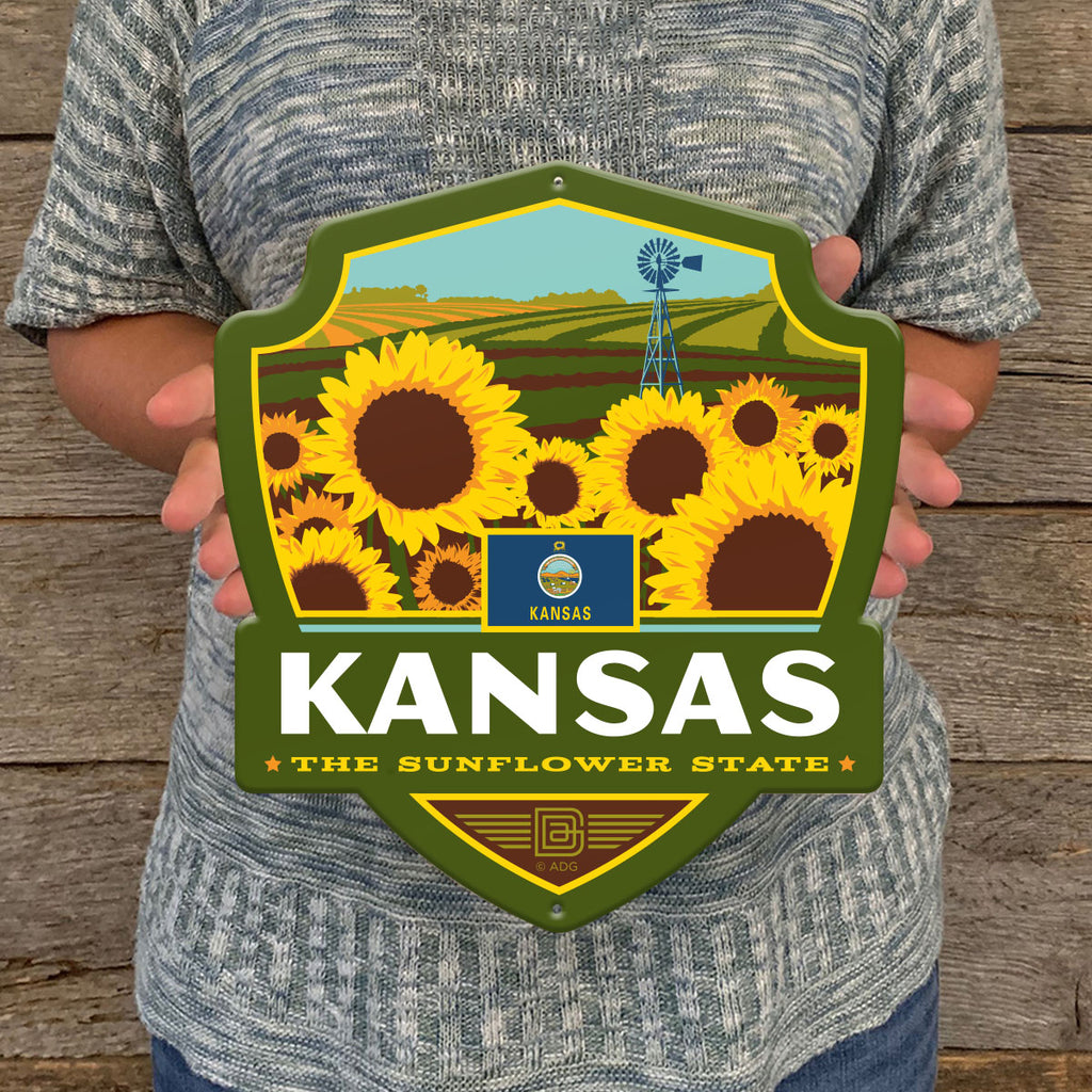 Metal Emblem Sign: SP Kansas