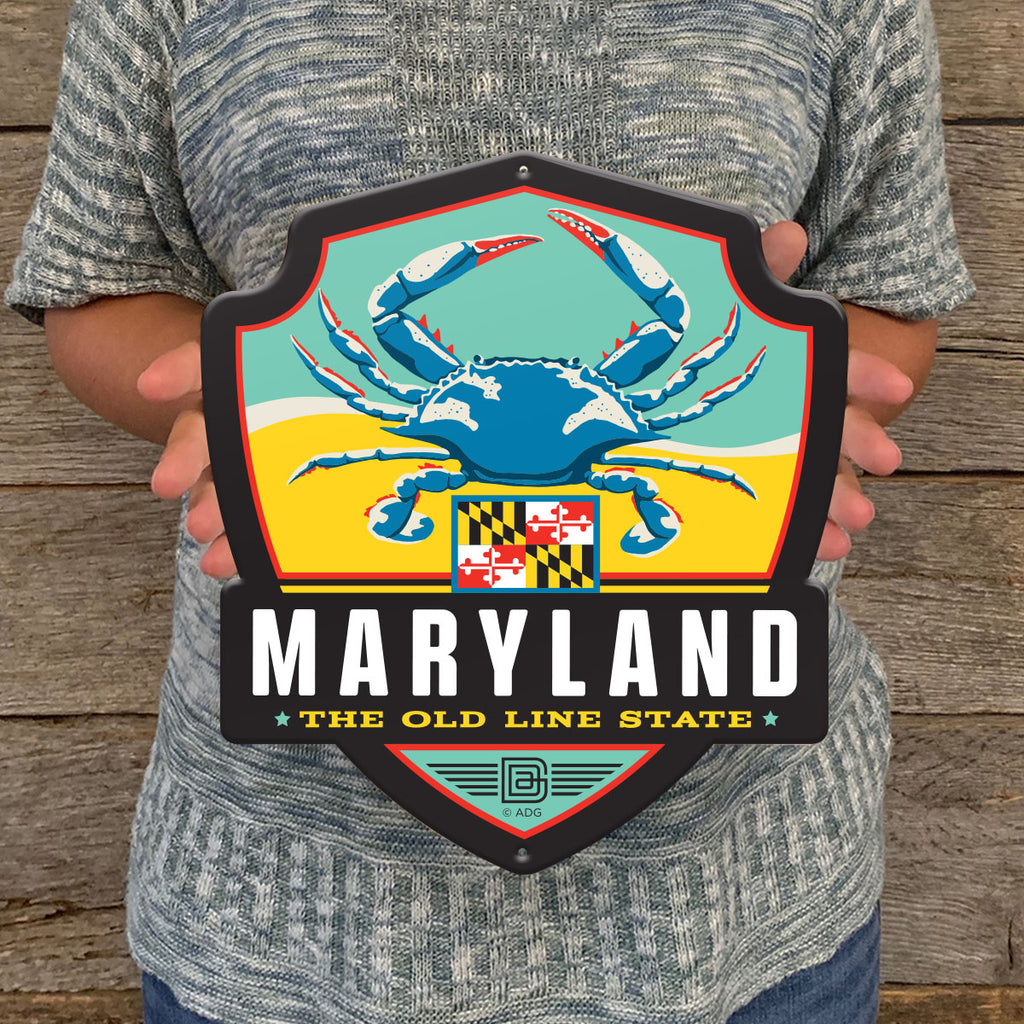 Metal Emblem Sign: SP Maryland