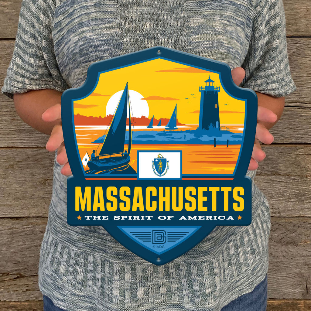 Metal Emblem Sign: SP Massachusetts