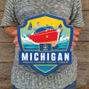 Metal Emblem Sign: SP Michigan