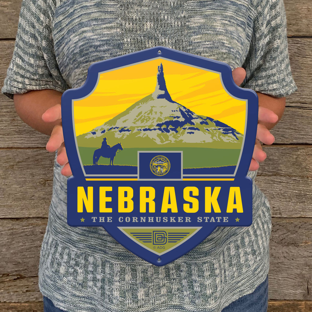 Metal Emblem Sign: SP Nebraska