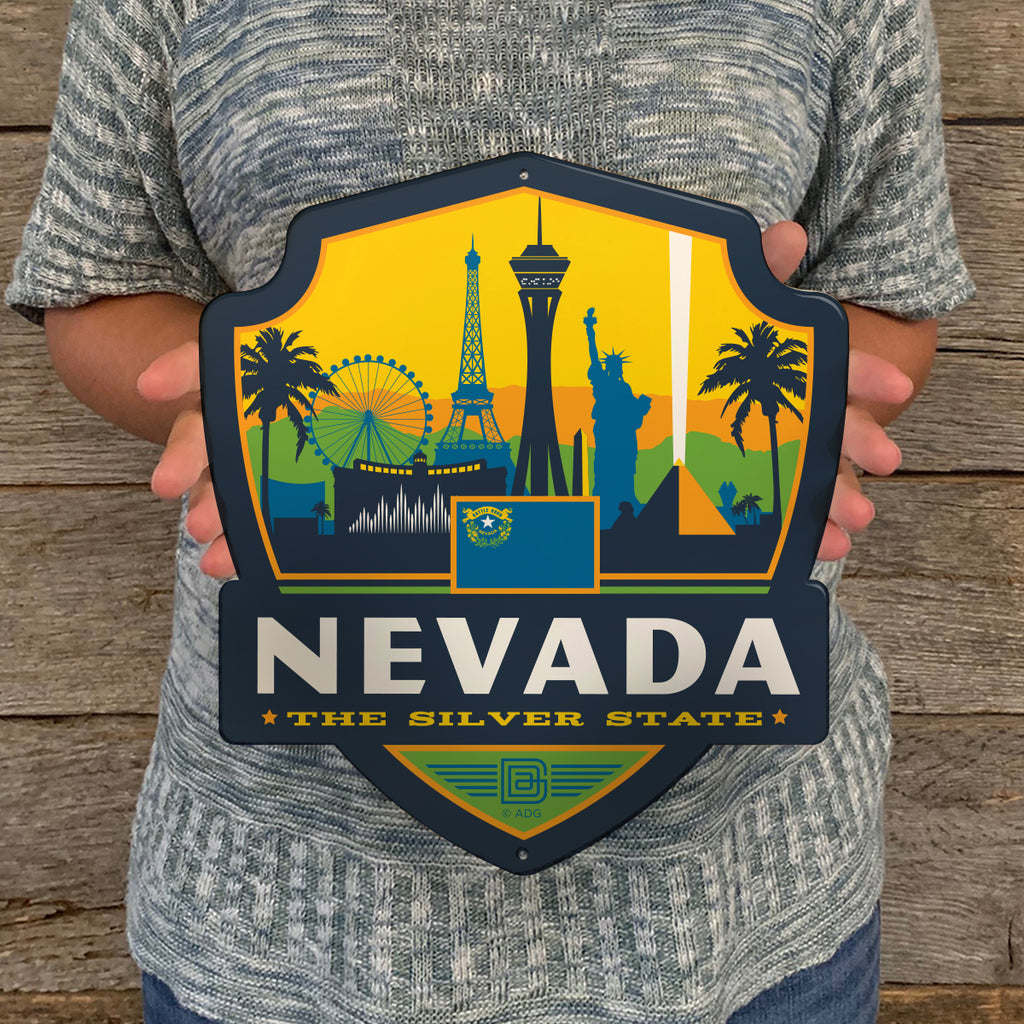 Metal Emblem Sign: SP Nevada