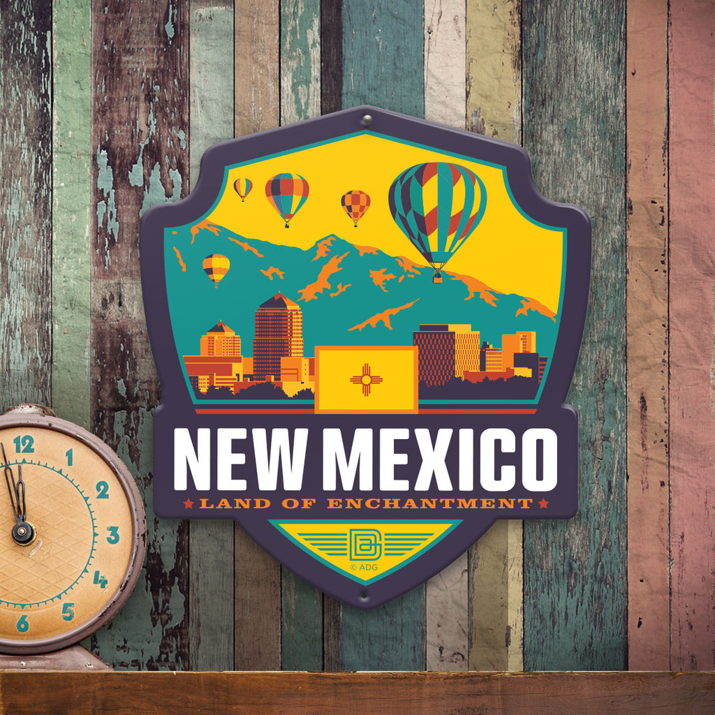 Metal Emblem Sign: SP New Mexico
