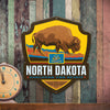 Metal Emblem Sign: SP North Dakota