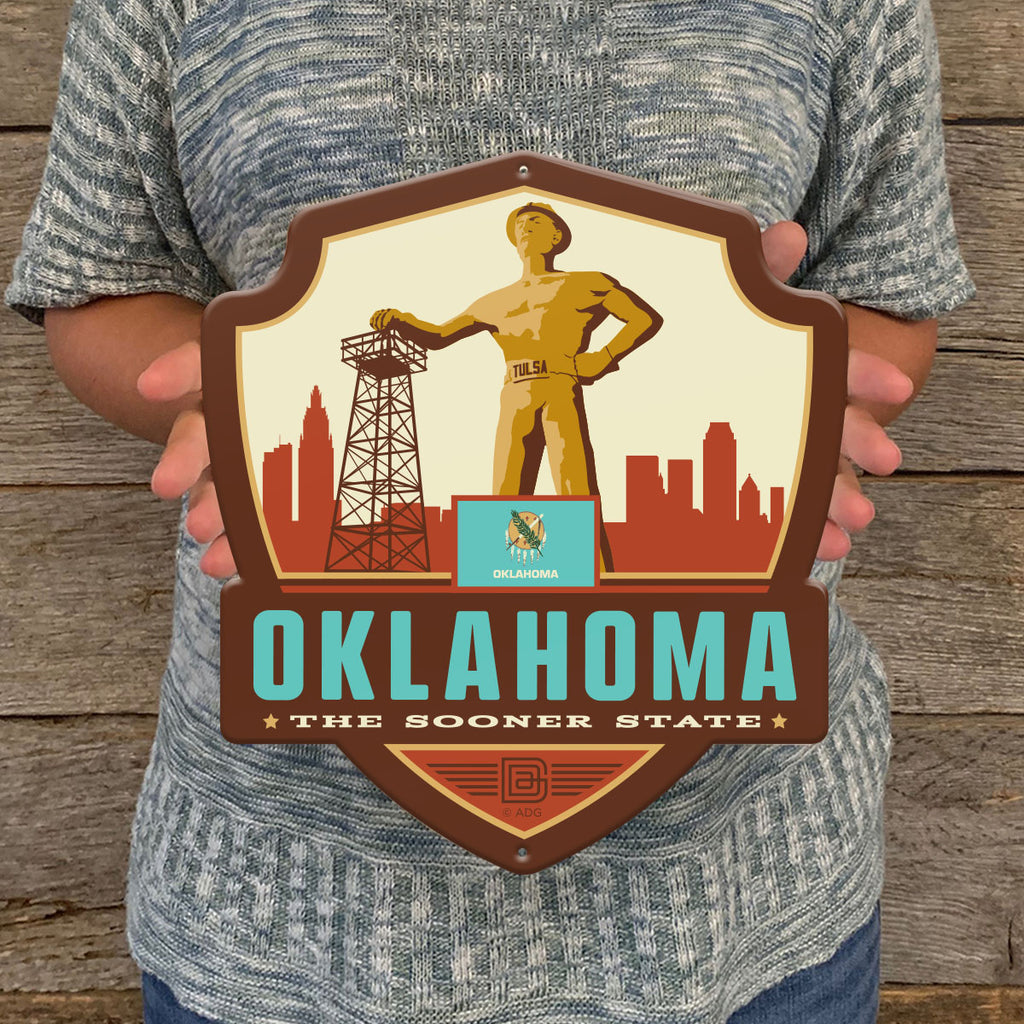 Metal Emblem Sign: SP Oklahoma