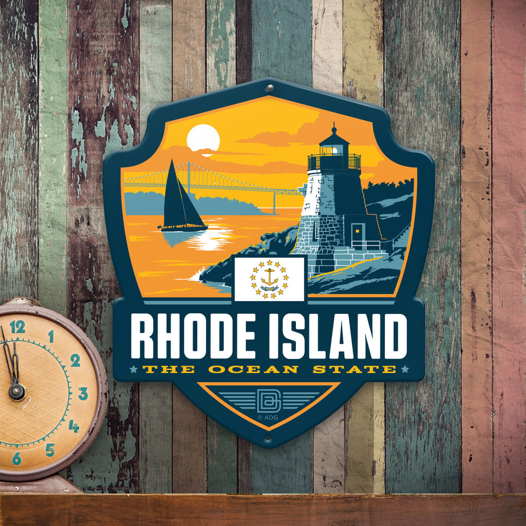 Metal Emblem Sign: SP Rhode Island